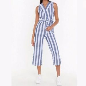 [Nasty Gal] NWT Striped Cropped Jumpsuit